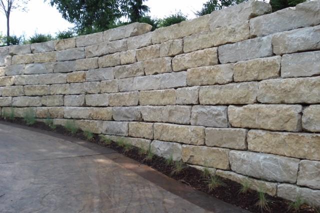 Limestone retaining Wall 1